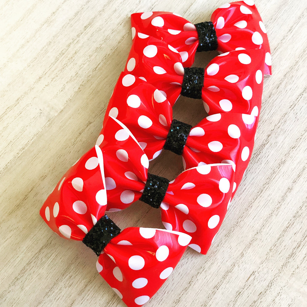 Classic Red Polka Dots Bow