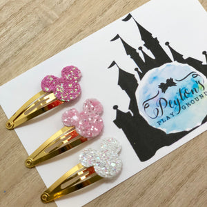 Sleeping Princess Mouse Head Snap Clip Set