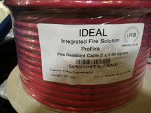 Fire Rated Cable - 100 metre reels - LPCB Approved  2 core x 1.5mm, Un-Shielded