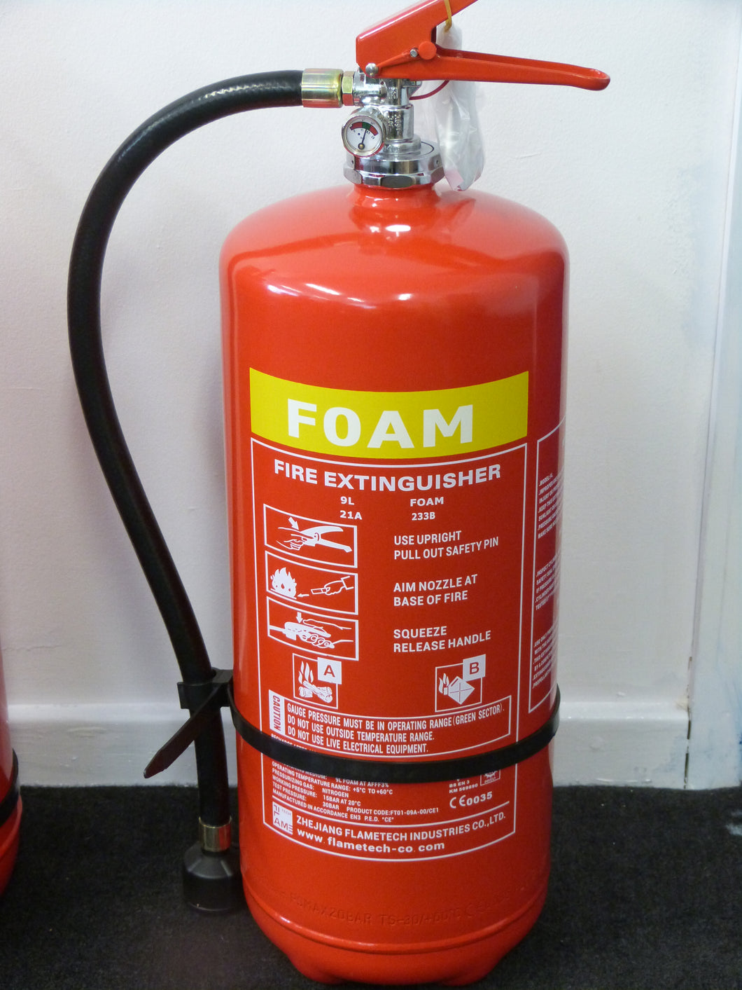 Foam Fire Extinguisher 9ltr with CE/BSI Approval