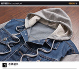Denim Jacket men hooded