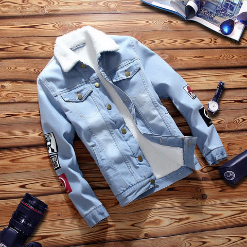 Vintage Patched Denim Lined Jacket