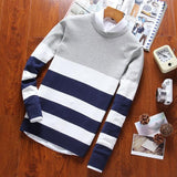 Styl Horizontal-Striped Casual Sweater