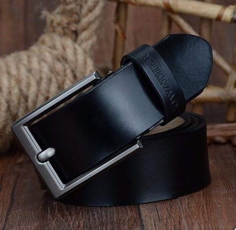 Belts genuine leather with a luxurious buckle