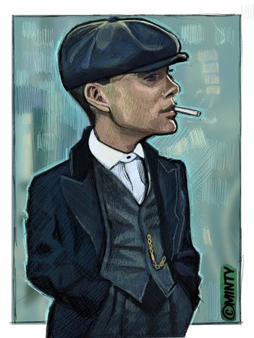 Tommy Shelby Peaky Blinders print...