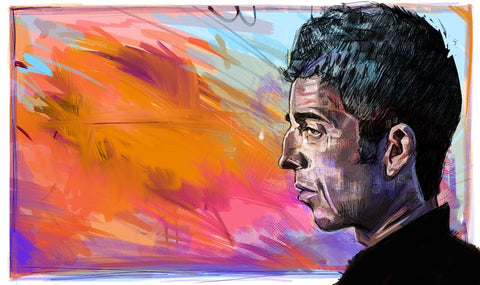 Noel Gallagher Abstract print