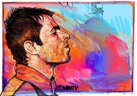 Liam Gallagher Abstract print