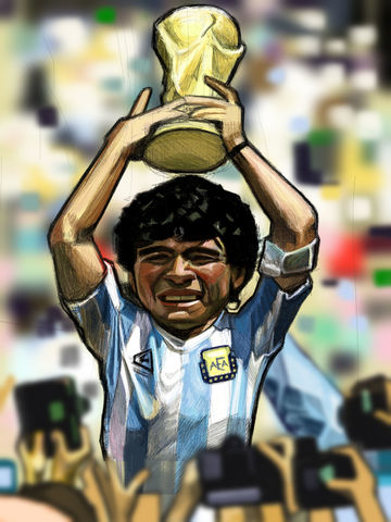 Maradona 86 World Cup 86  Print.