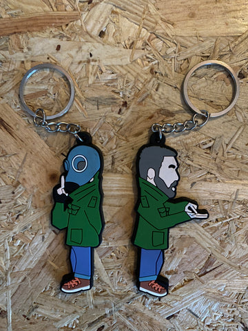 Dead Mans Shoes limited edition PVC rubber Keyring