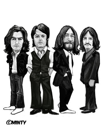 The Beatles print...