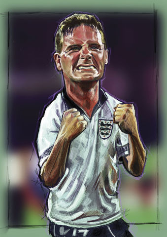 Gazza for the Love of the game  Print.