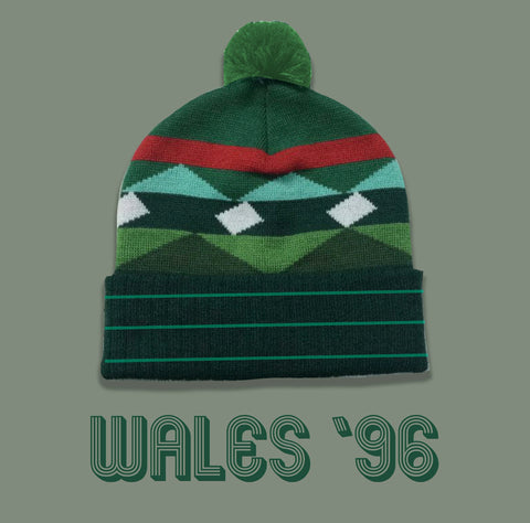 Wales 96 Bobble Hat Green