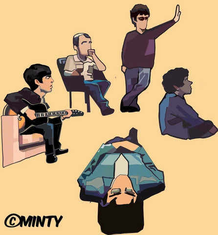 Oasis 25th anniversary limited edition Pin set