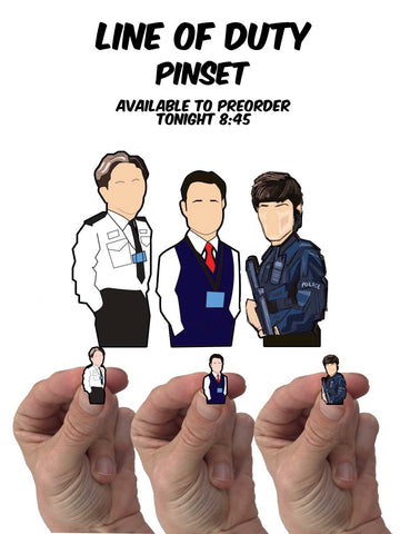Line of duty limited edition Pin set