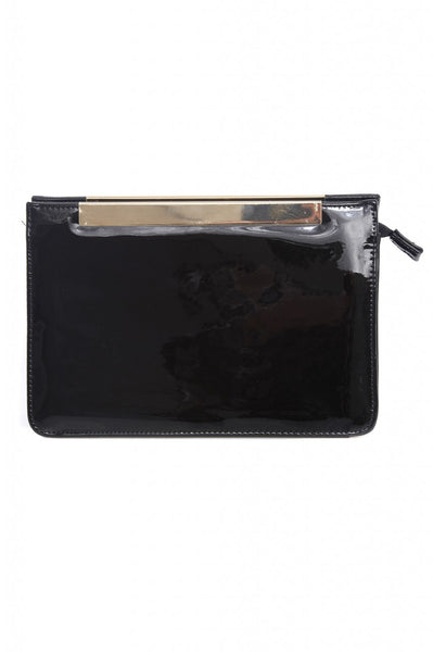Patent Gold Detail Clutch