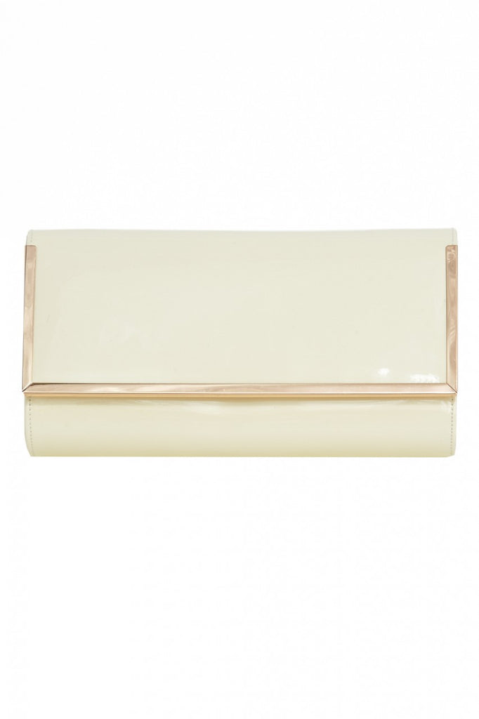 Patent  Rectangle Gold Edged Clutch
