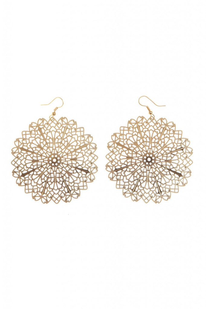 Detailed Circular  Statement Earrings