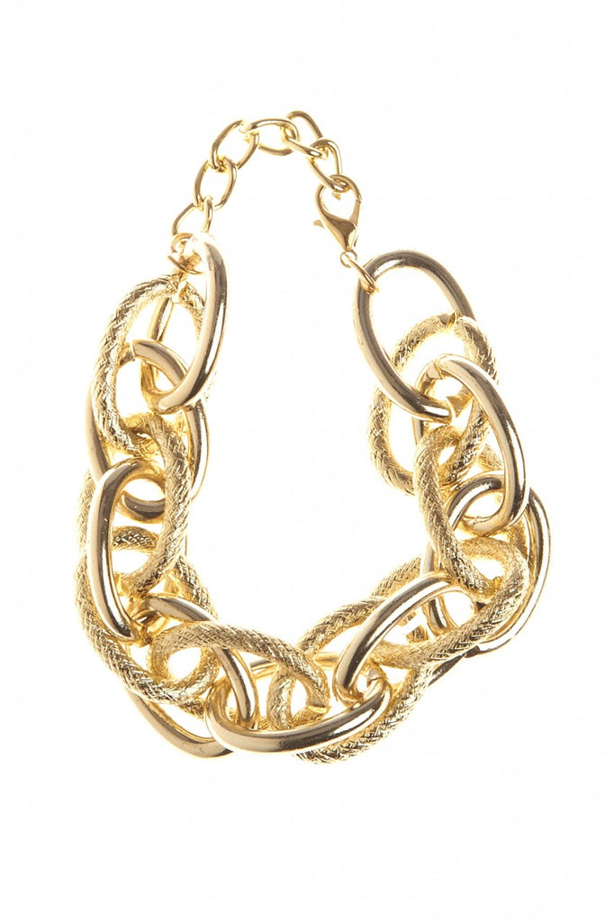 Gold Chain Statement Bracelet