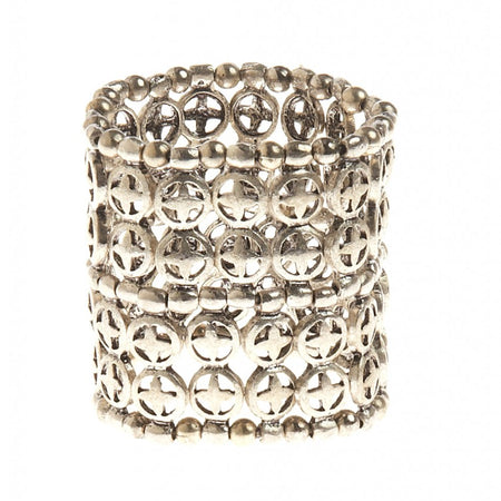 Detailed Cuff Statement Bracelet