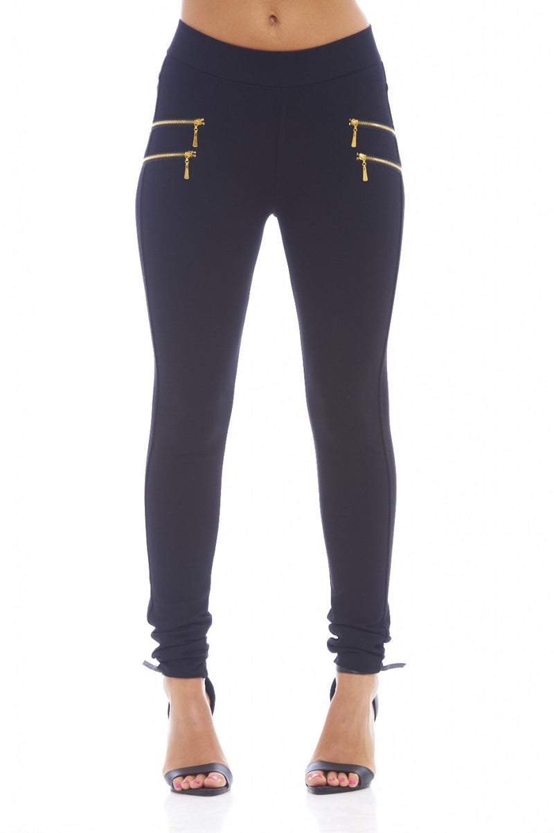 High Waisted Zip Pants