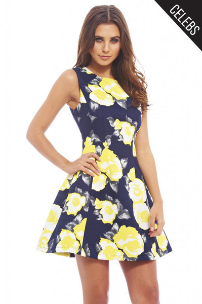 e41806c1f890 Floral Print Skater Dress – AX Paris
