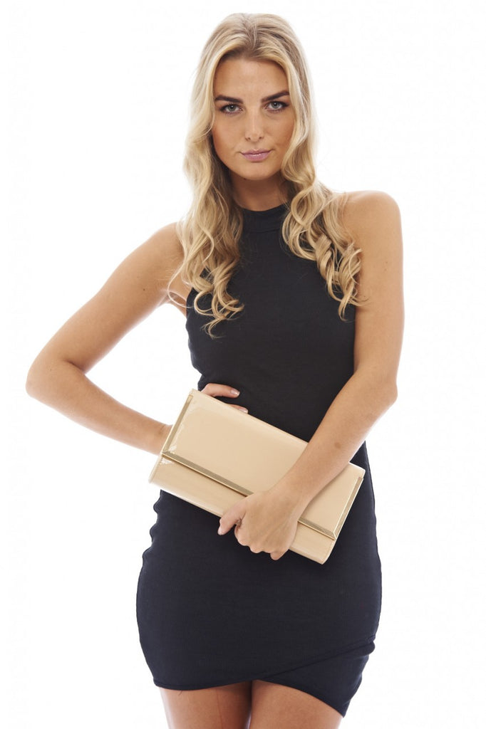Rectangle Gold Edged Clutch