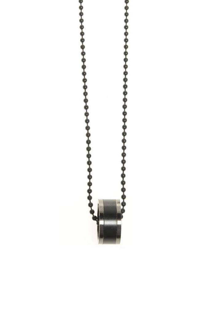 Black Ring Necklace