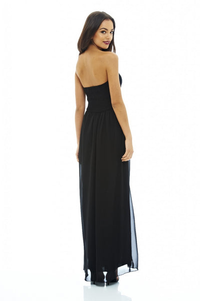 Chiffon Bandeau Maxi Dress