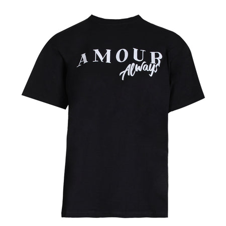 Black Amour Slogan T-Shirt