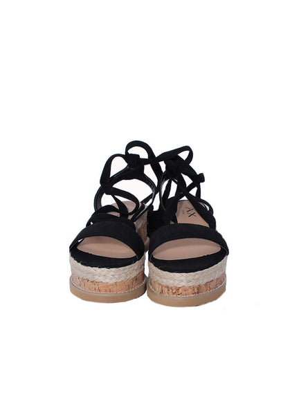 Black Lace Up Flatforms
