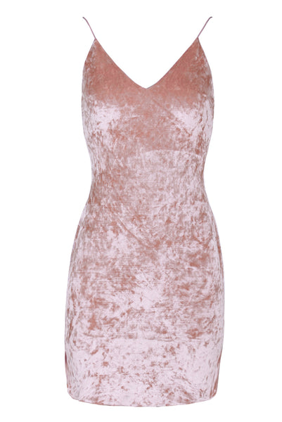 Blush Crushed Velvet dress