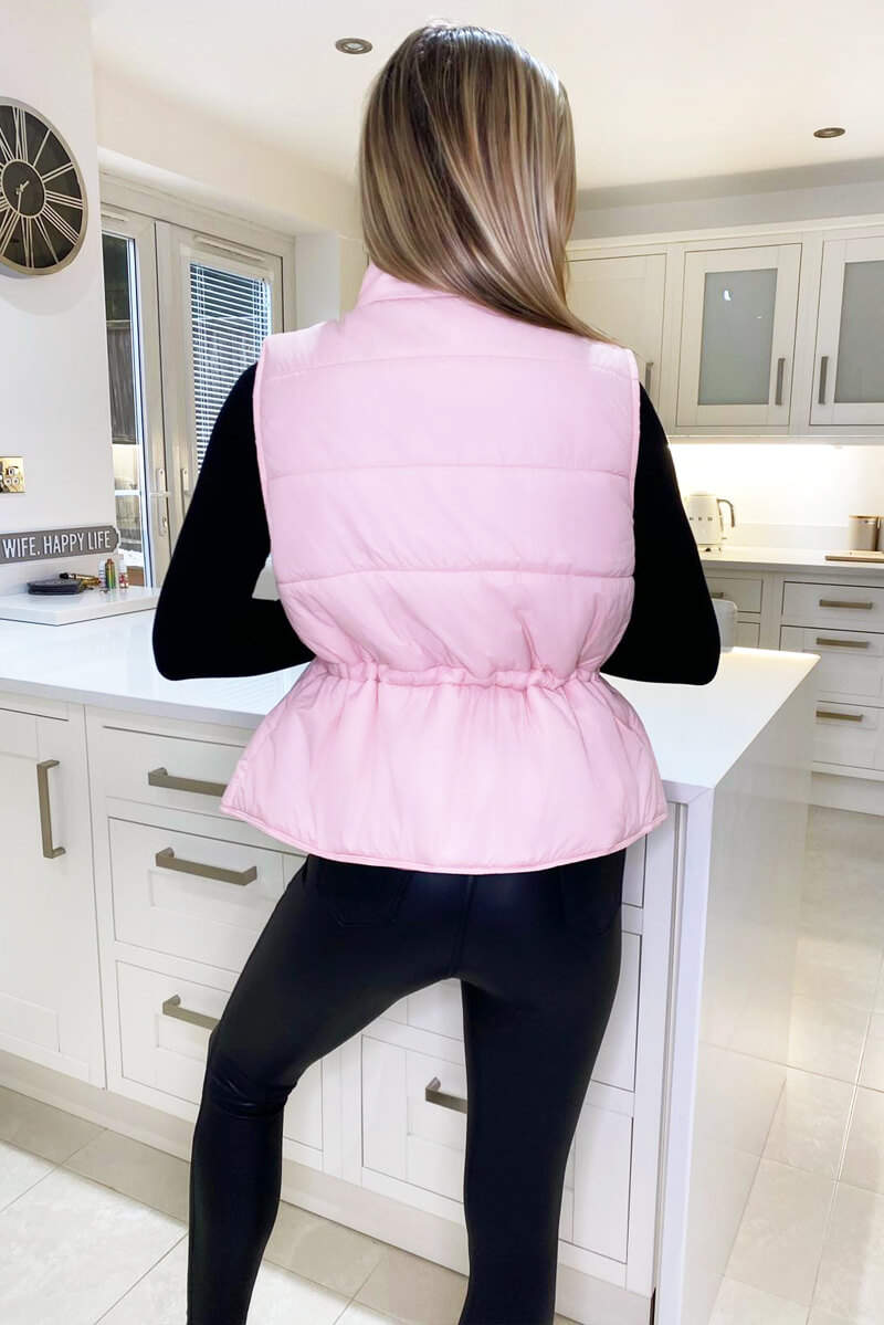 Baby Pink Puffer Gilet