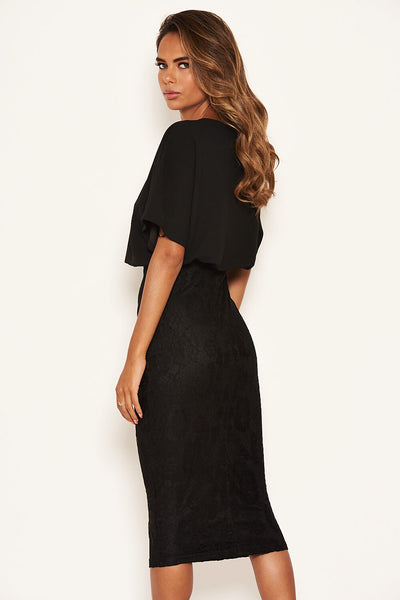 Black 2 In 1 Lace Skirt Dress