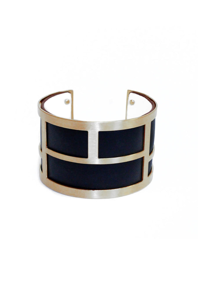 Black And Gold Cuff Bangle