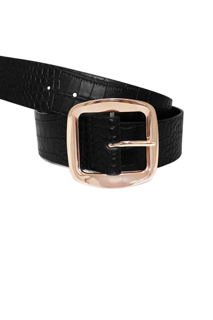 Black Chunky Boyfriend Belt