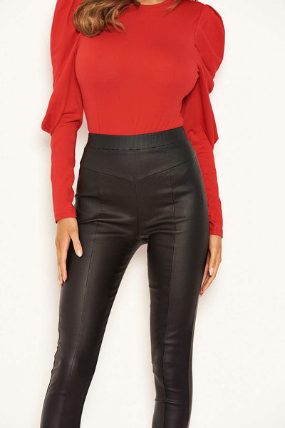 Black Faux Leather Leggings