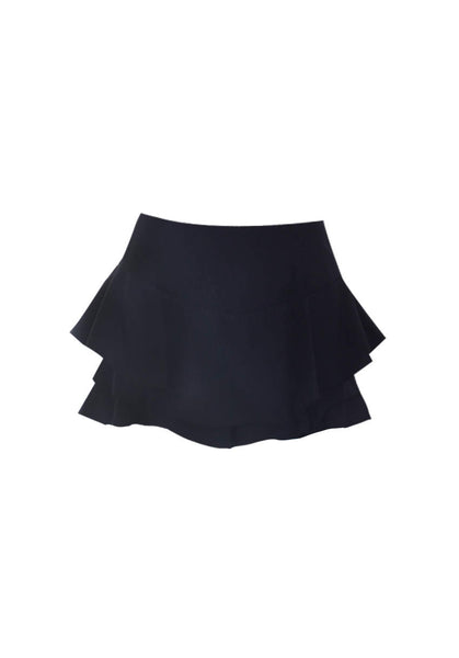 Black Frill Skort Shorts