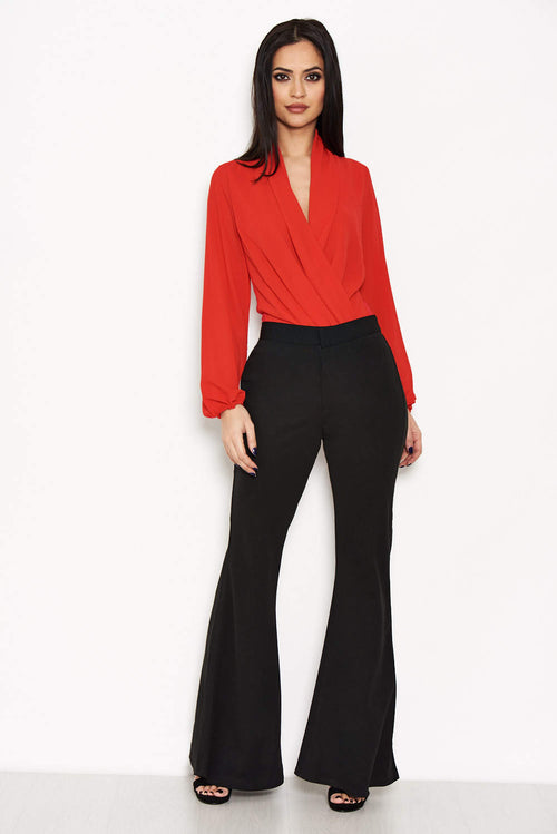 689448628ce8 Black High Waisted Flared Trousers