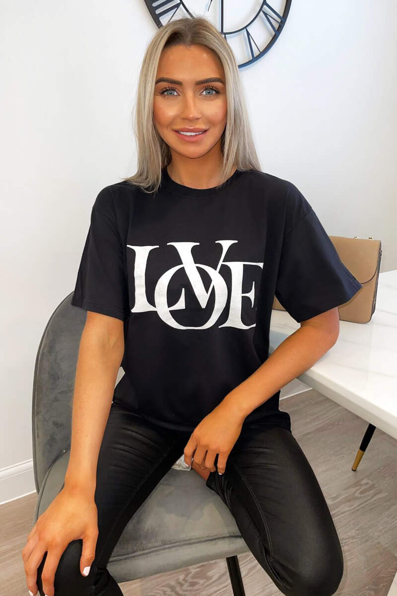Black Love Oversized Tee