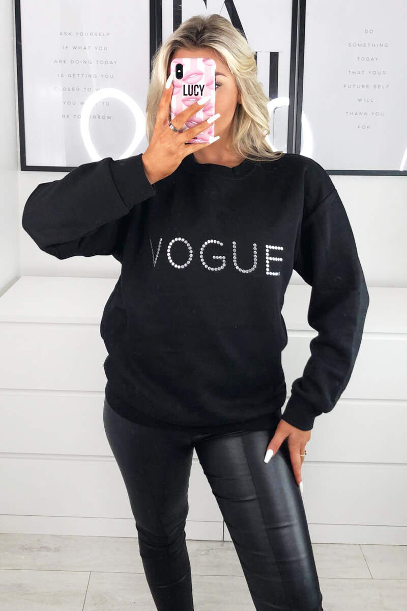 Black Metallic Vogue Sweatshirt
