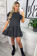 Black Polka Dot Smock Dress