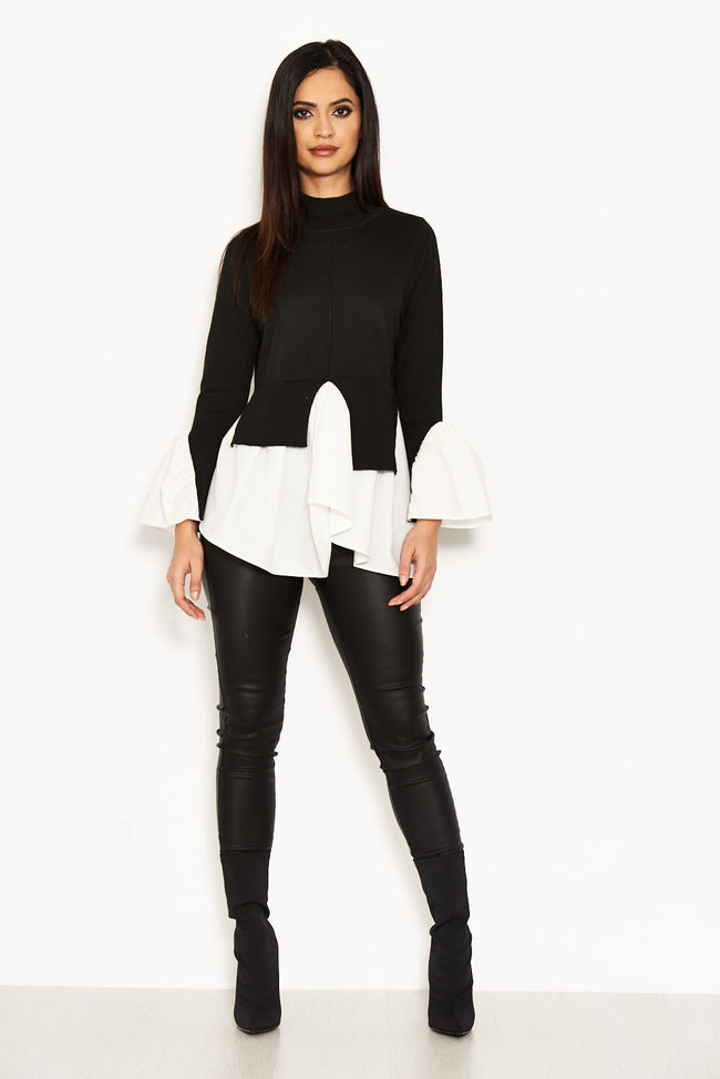 Black Polo Neck Shirt Jumper