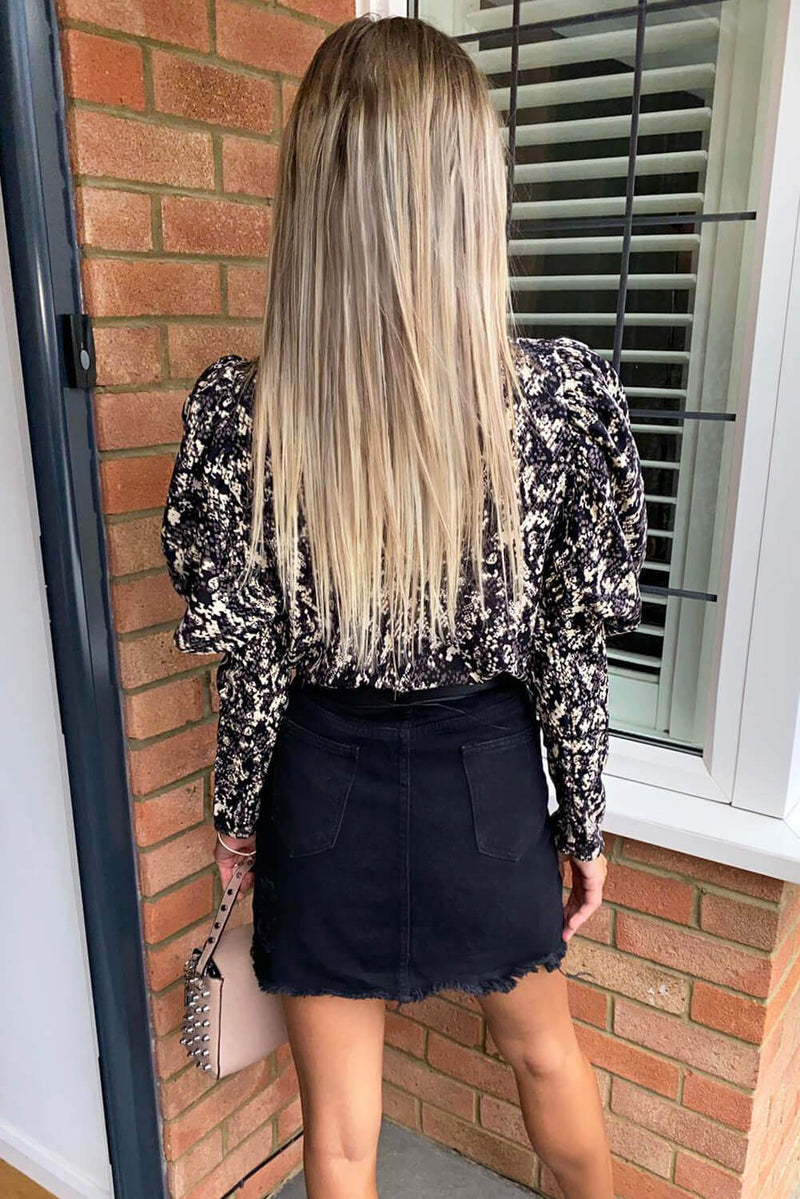 2 in 1 Animal Print High Neck Jumpsuit