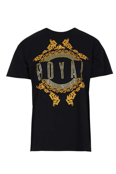 Black Royal Slogan T-Shirt
