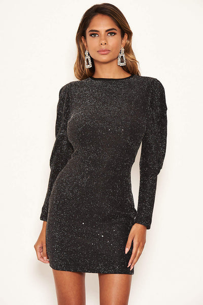 Black Sparkle Bodycon Dress