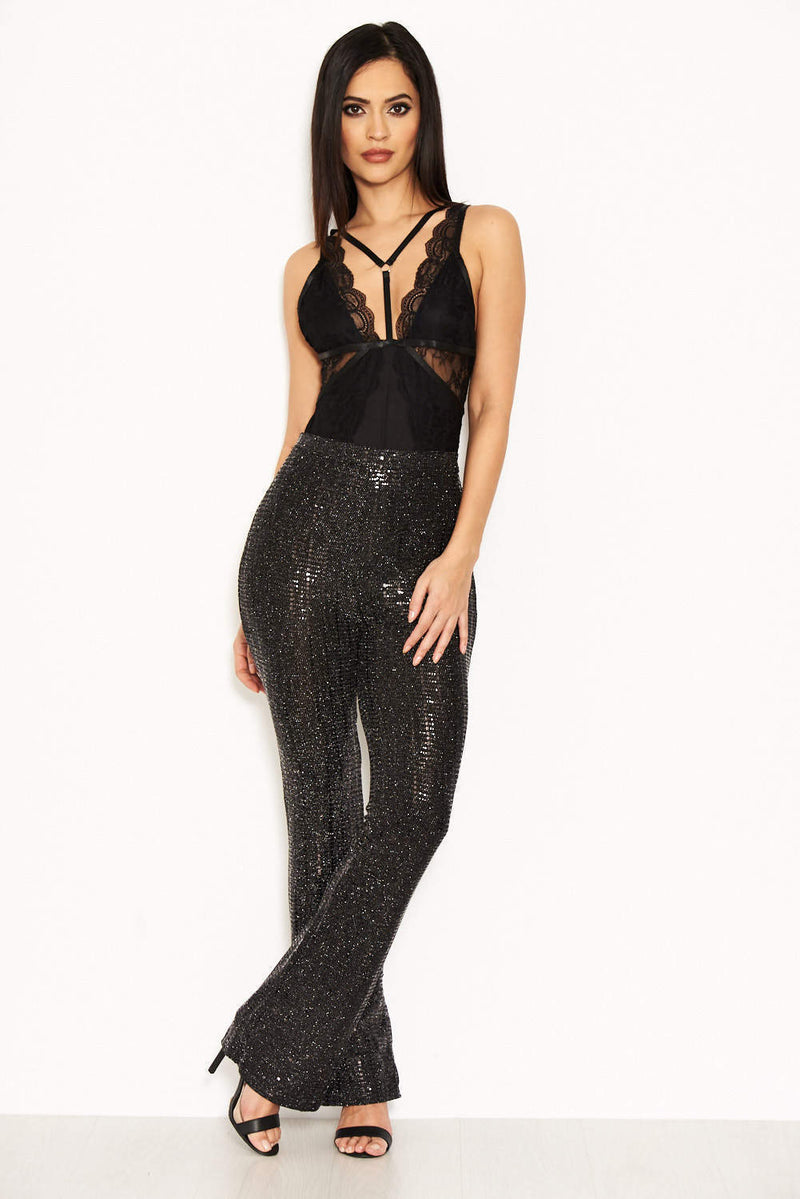 Black Sparkle Trousers