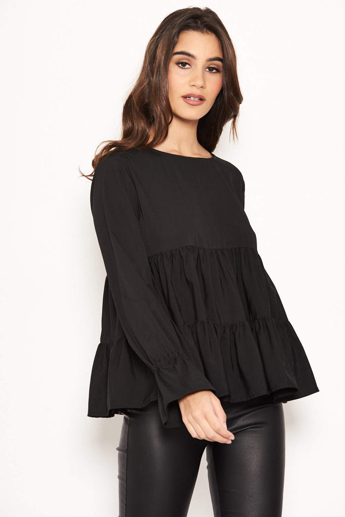 Black Tiered Top