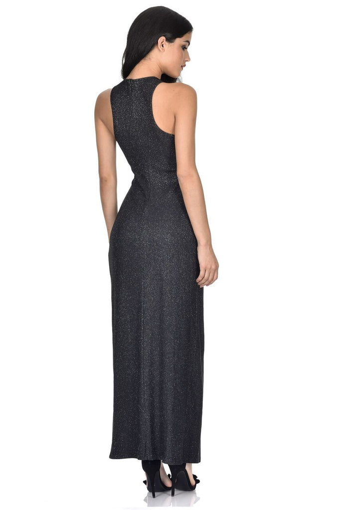 Black Crossover Maxi Dress