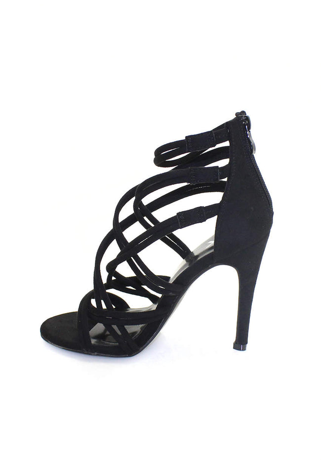 Black Strappy Stiletto Heel