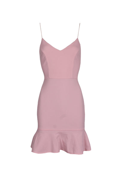 Blush Frill Hem Mini Dress